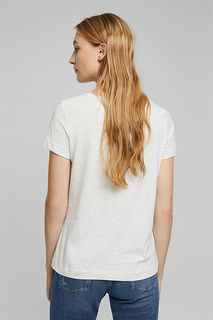 Jersey T-shirt made of organic cotton, OFF WHITE, detail image number 3