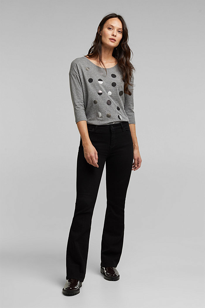 Organic cotton-jersey T-shirt, GUNMETAL, detail image number 1