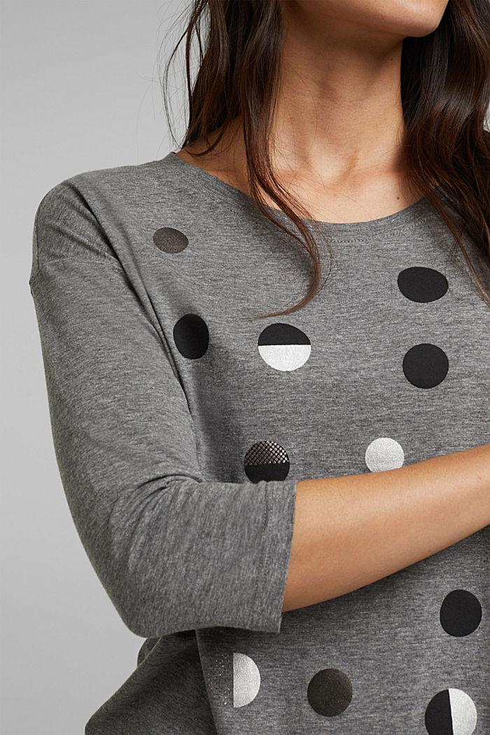 Organic cotton-jersey T-shirt, GUNMETAL, detail image number 2