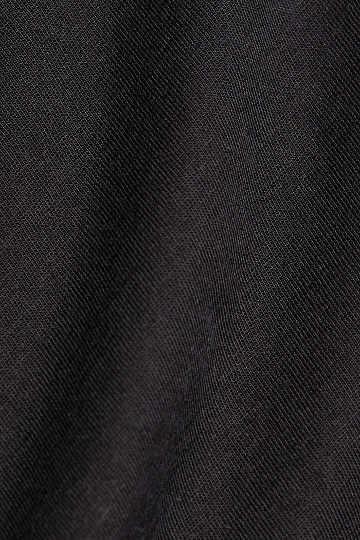 Print t-shirt with organic cotton, BLACK, detail image number 4