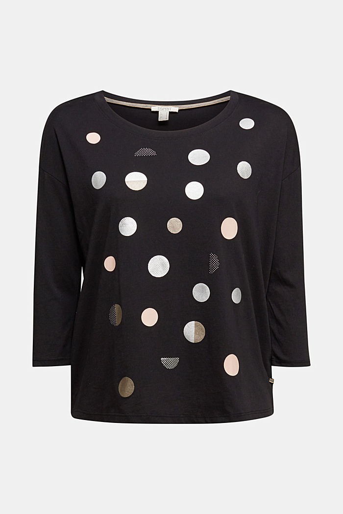 Print t-shirt with organic cotton, BLACK, detail image number 6