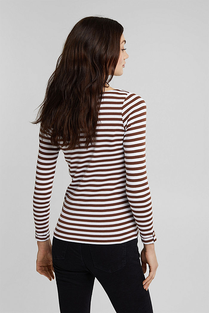 Long sleeve top made of 100% organic cotton, BROWN, detail image number 3