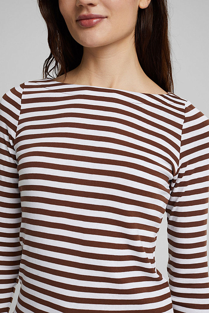 Long sleeve top made of 100% organic cotton, BROWN, detail image number 2
