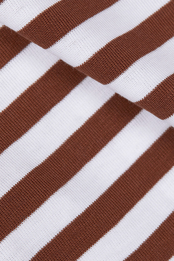 Long sleeve top made of 100% organic cotton, BROWN, detail image number 4