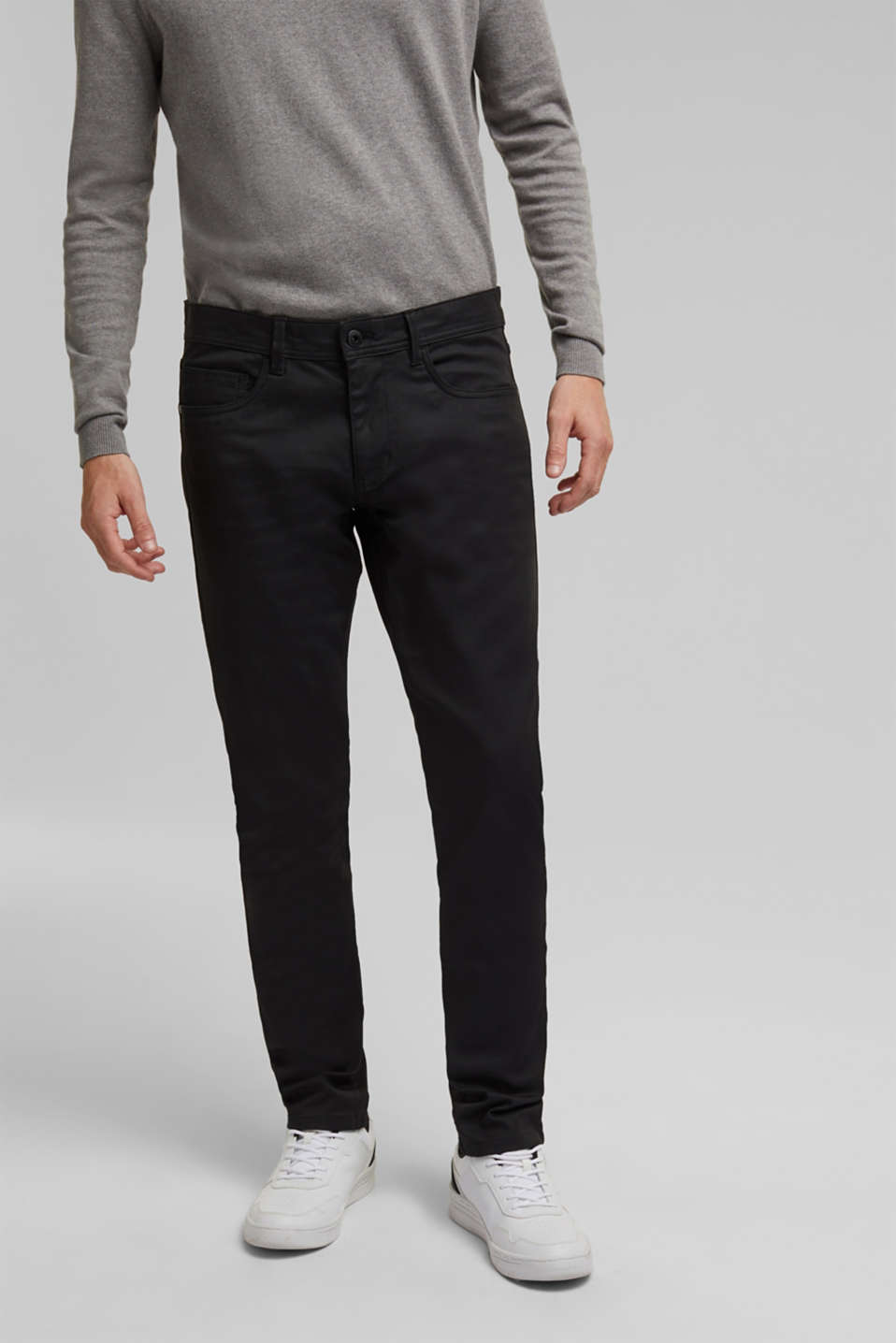 Esprit - Coated stretch jeans