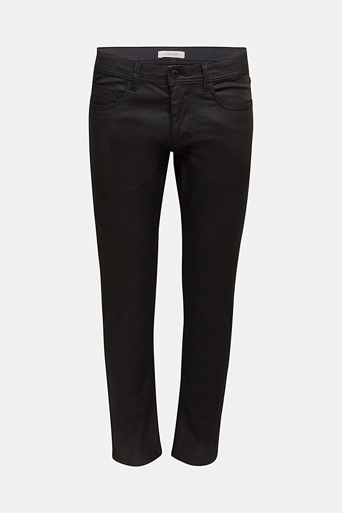 Coated Jeans mit Stretch, BLACK, detail image number 6