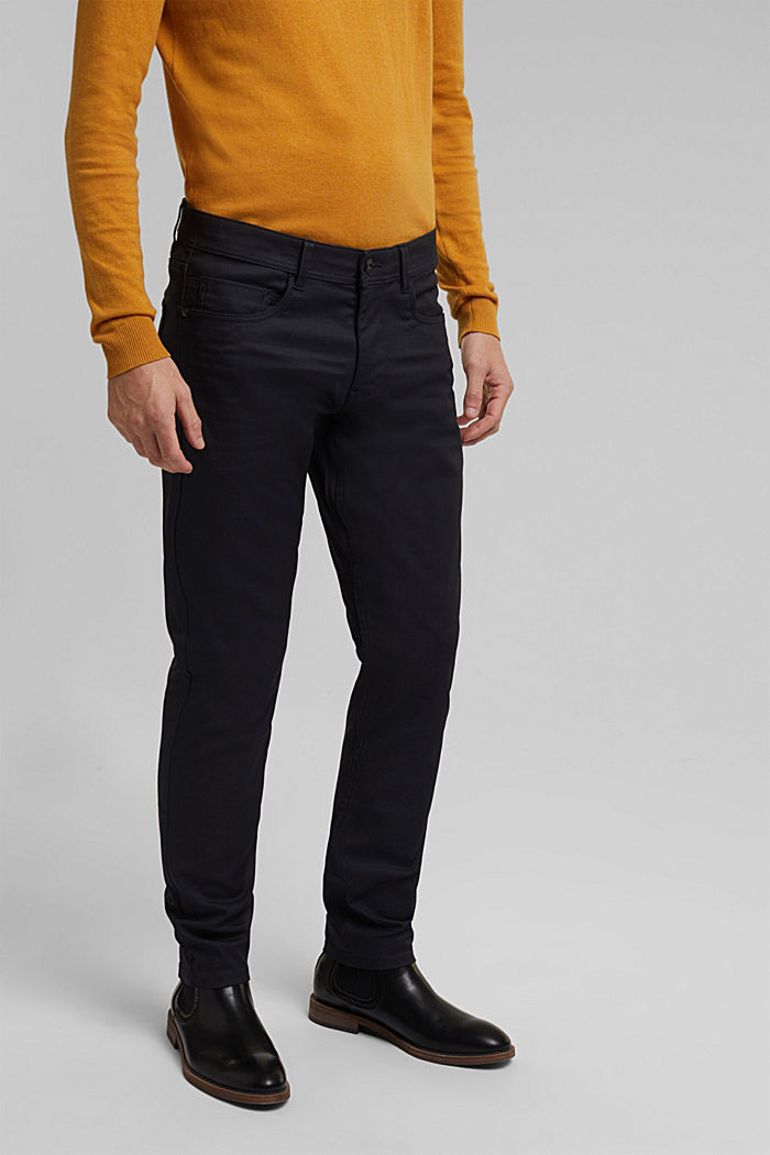 Coated Jeans mit Stretch, NAVY, detail image number 0