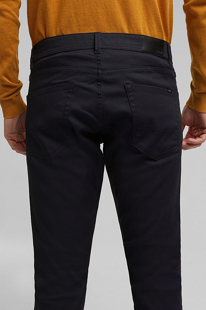 Coated Jeans mit Stretch, NAVY, detail image number 2