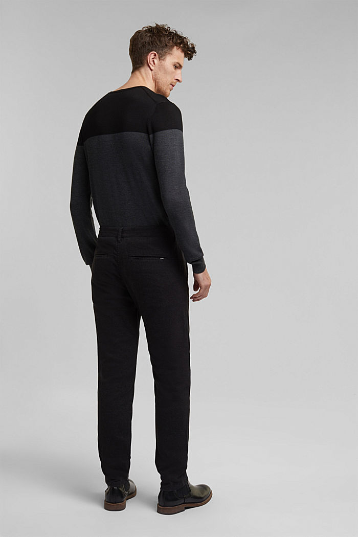 Stretch-Chino mit Organic Cotton, ANTHRACITE, detail image number 3