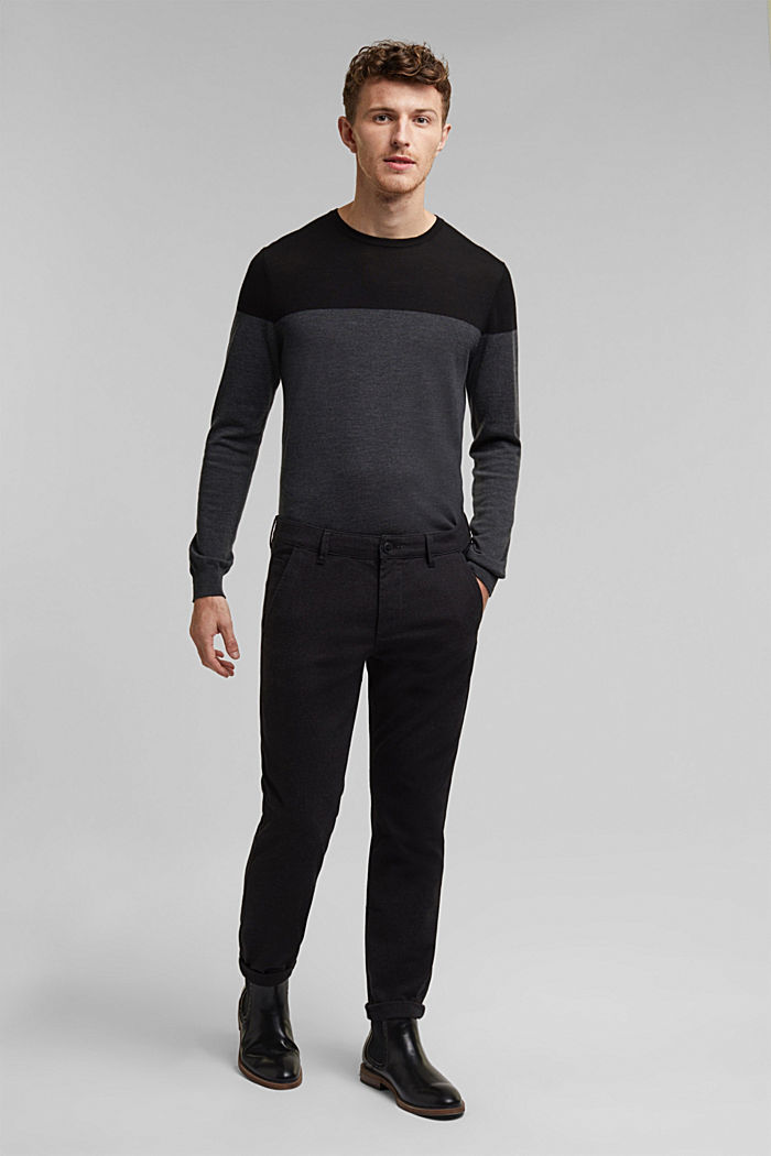 Stretch-Chino mit Organic Cotton, ANTHRACITE, detail image number 5