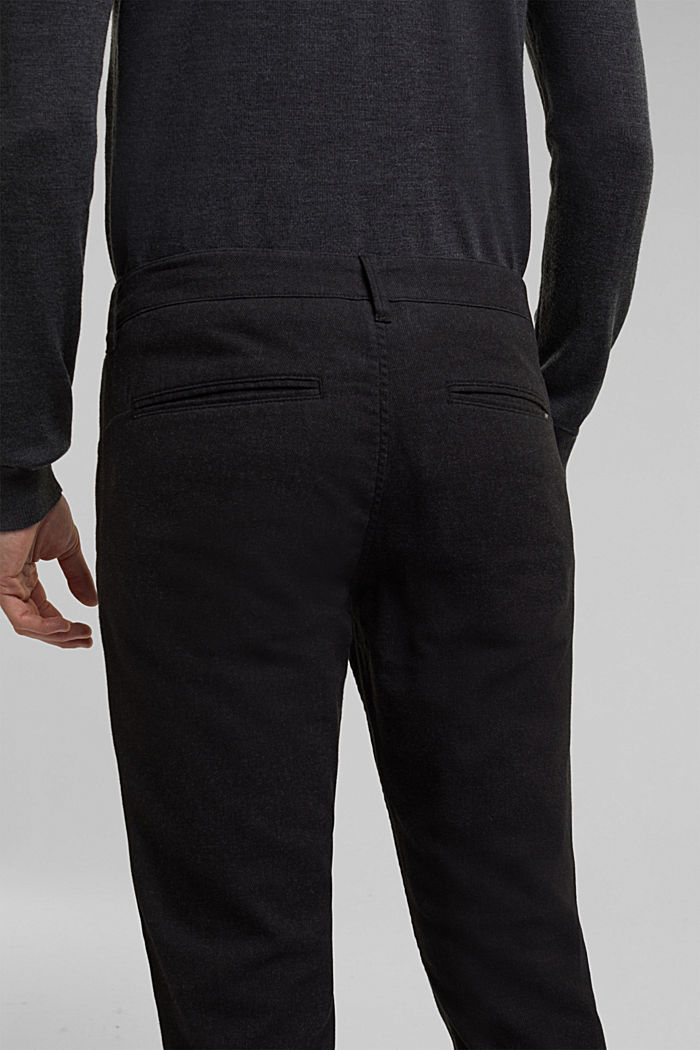 Stretch chinos with organic cotton, ANTHRACITE, detail image number 2