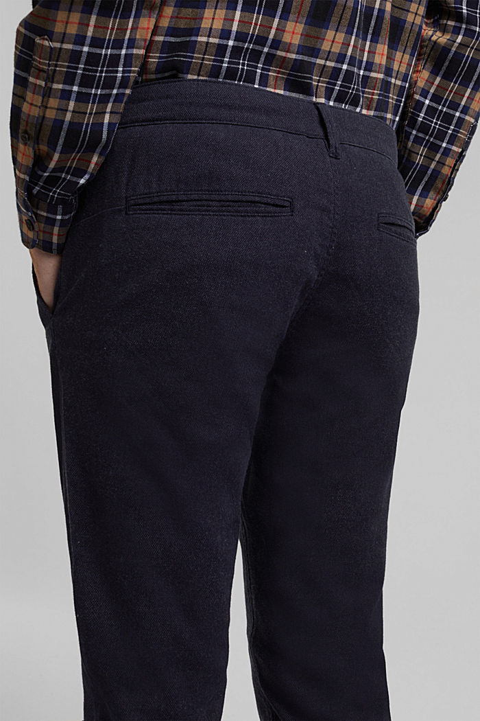 Stretch chinos with organic cotton, DARK BLUE, detail image number 2