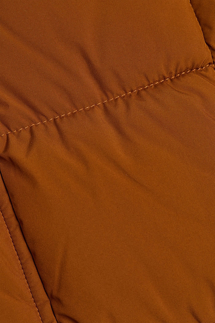 Padded quilted jacket with a hood, TOFFEE, detail image number 4