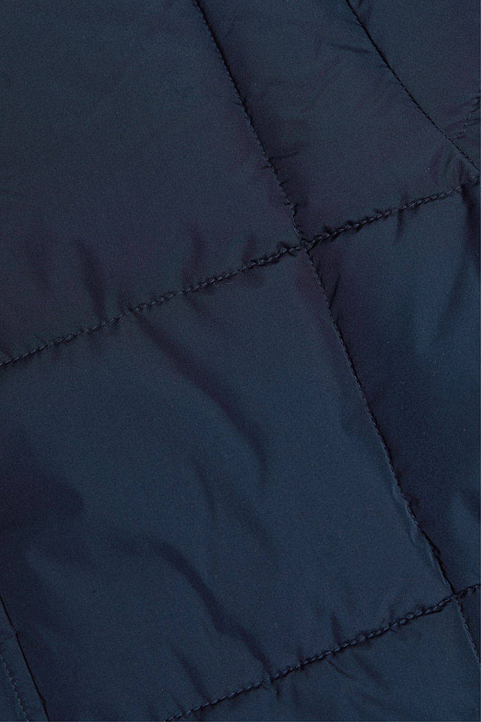 Padded quilted jacket with a hood, DARK BLUE, detail image number 4