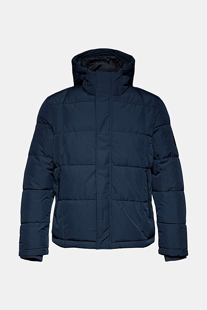 Padded quilted jacket with a hood, DARK BLUE, detail image number 5