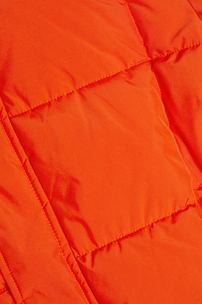 Padded quilted jacket with a hood, ORANGE, detail image number 5