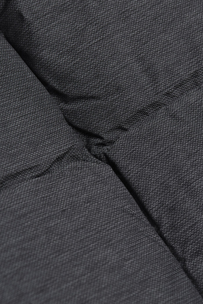 Padded quilted jacket with a melange finish, ANTHRACITE, detail image number 4