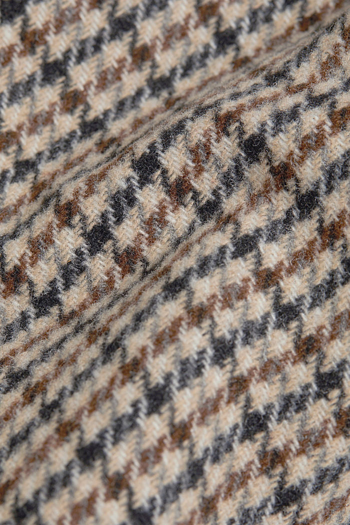 Recycled: houndstooth jacket with wool, CARAMEL, detail image number 4