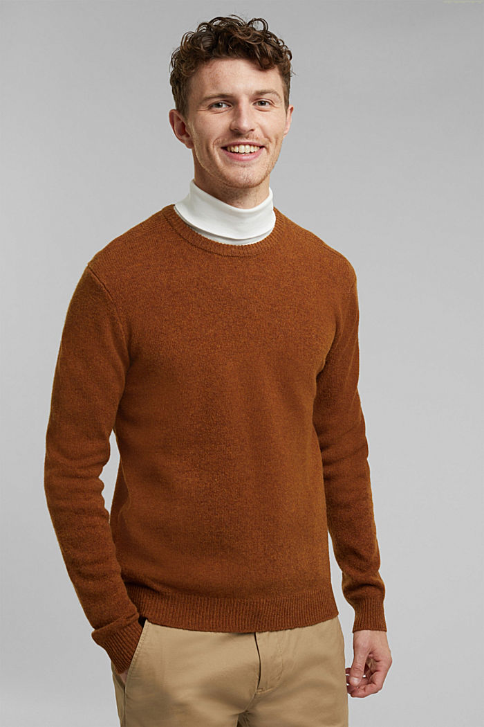 Responsible Wool: trui van RWS wol, BARK, detail image number 0