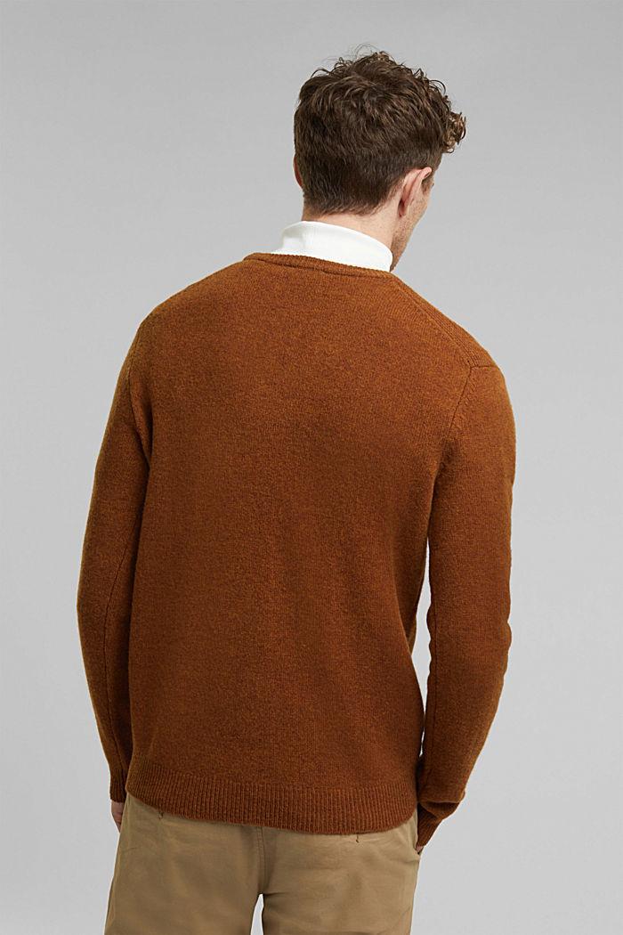 Responsible Wool: trui van RWS wol, BARK, detail image number 3
