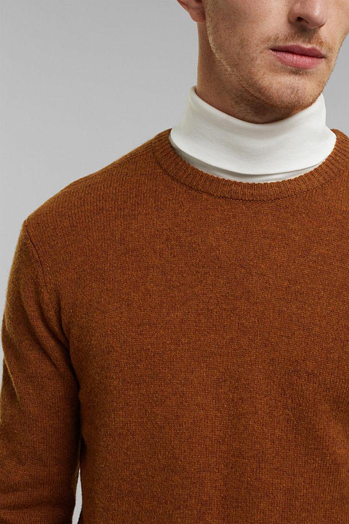 Responsible Wool: trui van RWS wol, BARK, detail image number 2