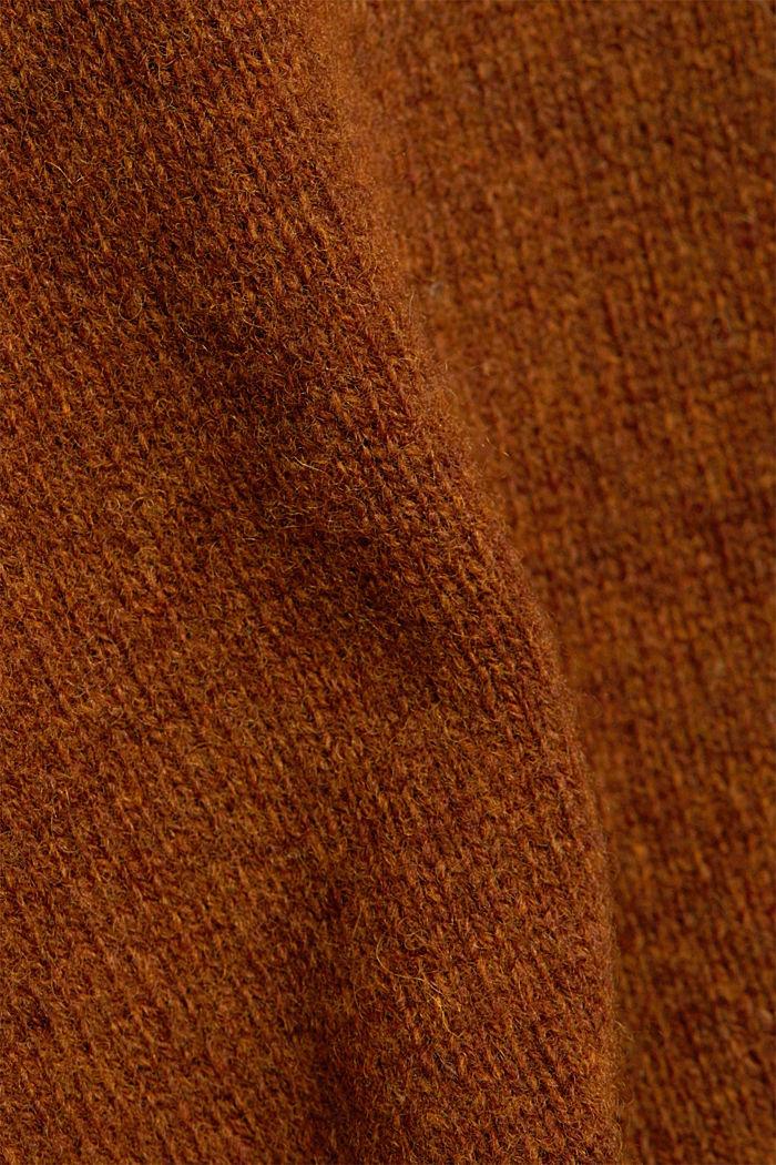 Responsible Wool: trui van RWS wol, BARK, detail image number 4