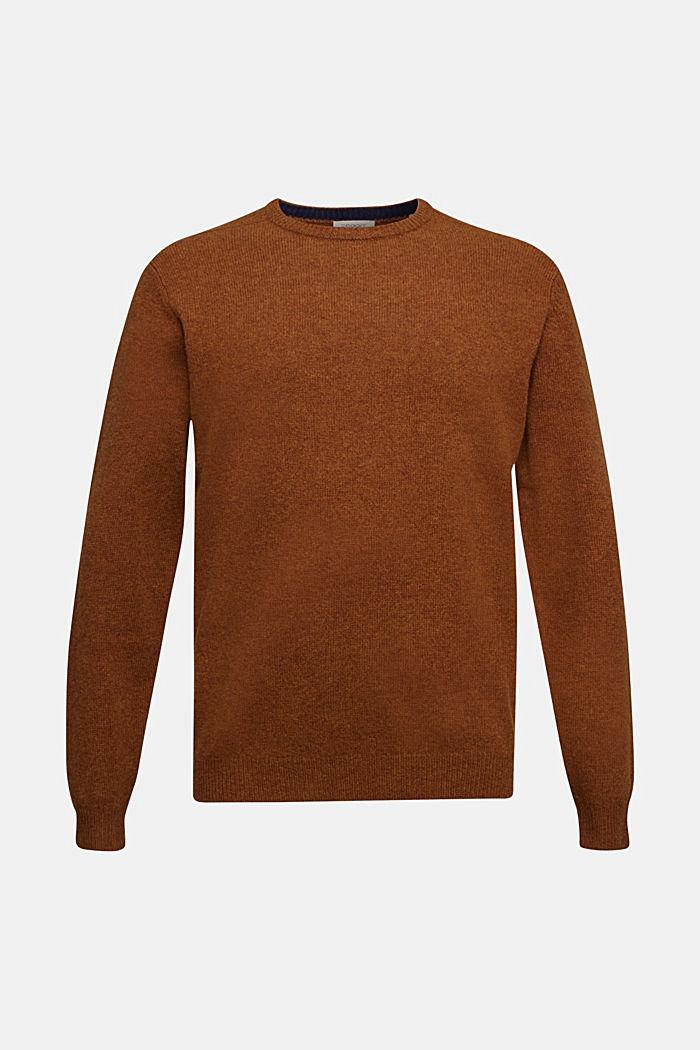 Responsible Wool: trui van RWS wol, BARK, detail image number 5