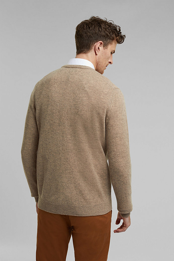 Responsible wool: Jumper made of RWS wool, LIGHT BEIGE, detail image number 3