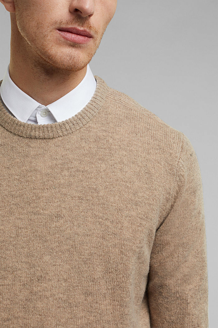 Responsible wool: Jumper made of RWS wool, LIGHT BEIGE, detail image number 2