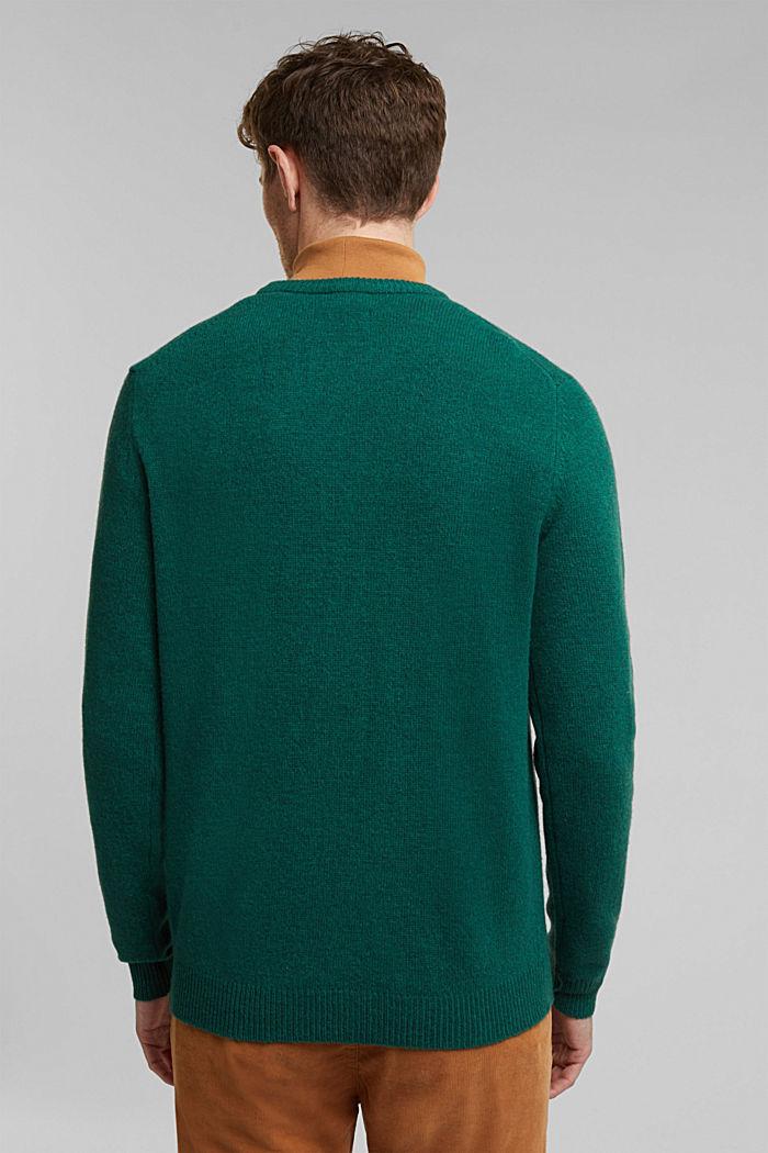 Responsible wool: pulovr z RWS vlny, BOTTLE GREEN, detail image number 3