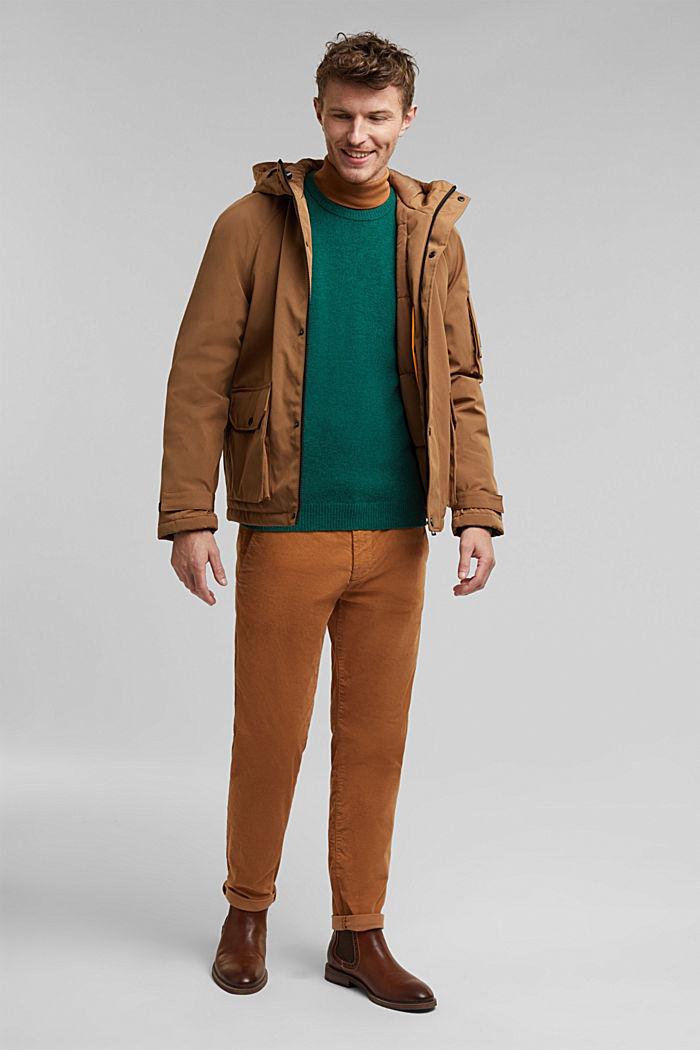 Responsible wool: pulovr z RWS vlny, BOTTLE GREEN, detail image number 1