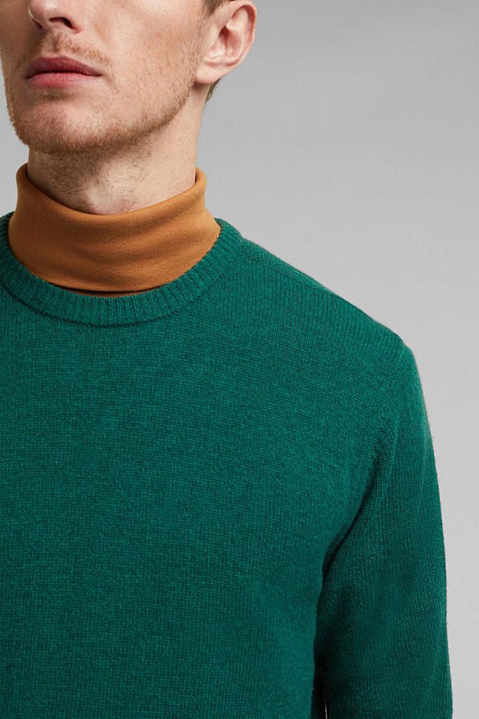 Responsible wool: pulovr z RWS vlny, BOTTLE GREEN, detail image number 2