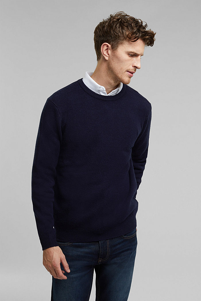 Responsible Wool: Pullover aus RWS Wolle, NAVY, detail image number 0