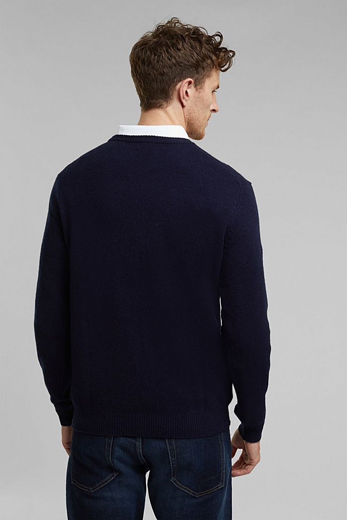 Responsible Wool: Pullover aus RWS Wolle, NAVY, detail image number 3
