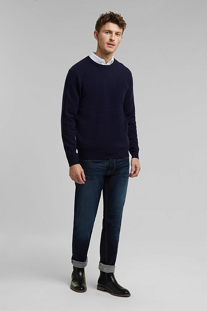 Responsible Wool: Pullover aus RWS Wolle, NAVY, detail image number 1