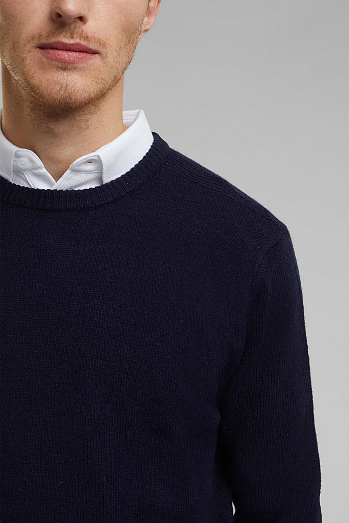 Responsible Wool: Pullover aus RWS Wolle, NAVY, detail image number 2