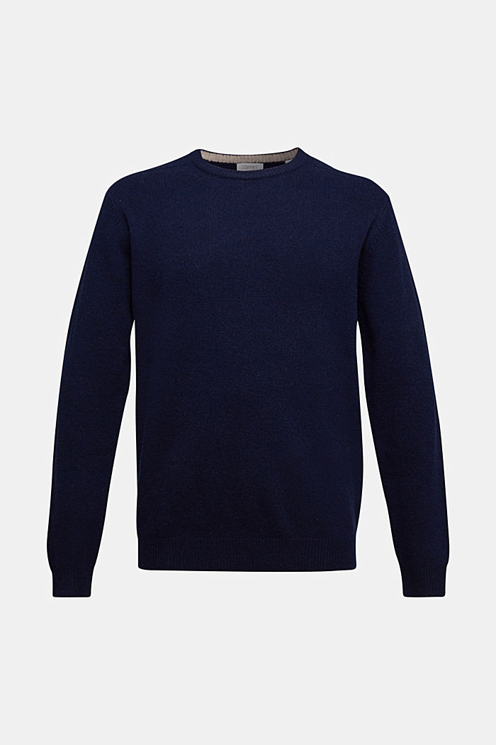 Responsible Wool: Pullover aus RWS Wolle, NAVY, detail image number 5