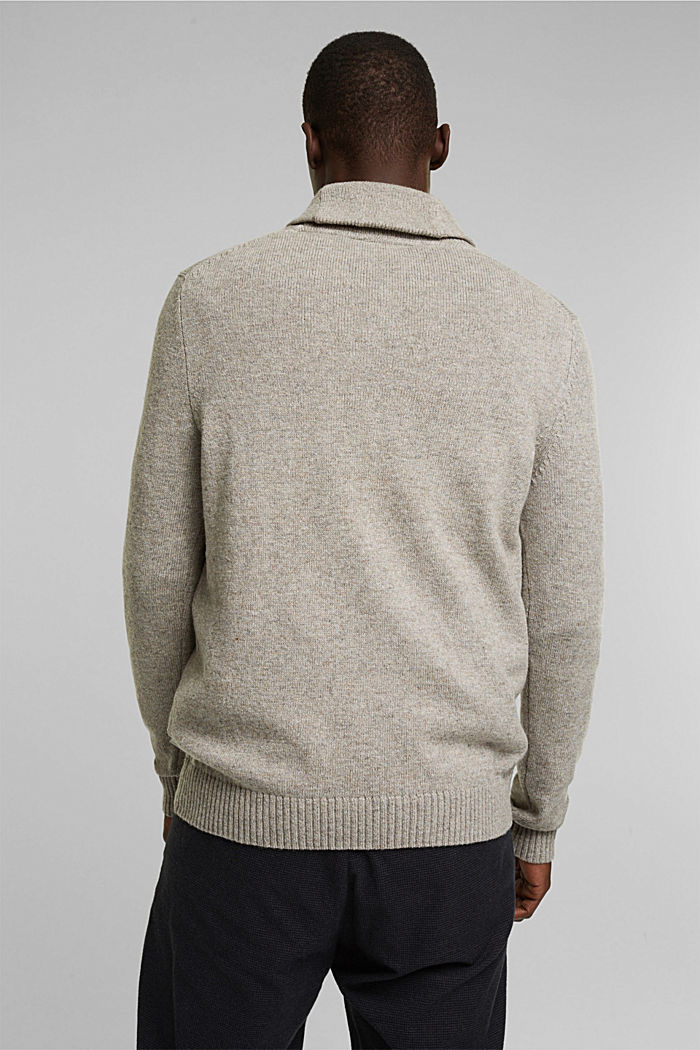 Aus Woll-Mix: Pullover mit Organic Cotton, LIGHT BEIGE, detail image number 3