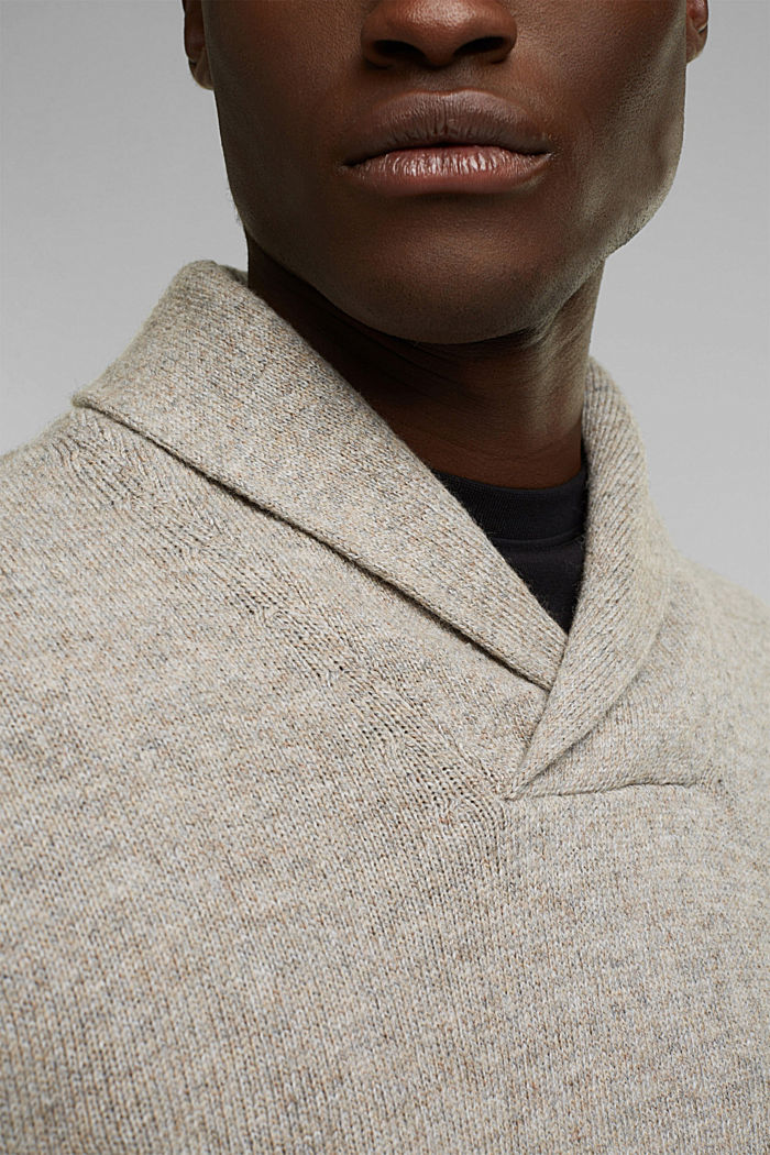 Aus Woll-Mix: Pullover mit Organic Cotton, LIGHT BEIGE, detail image number 2