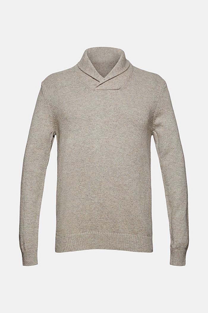 Aus Woll-Mix: Pullover mit Organic Cotton
