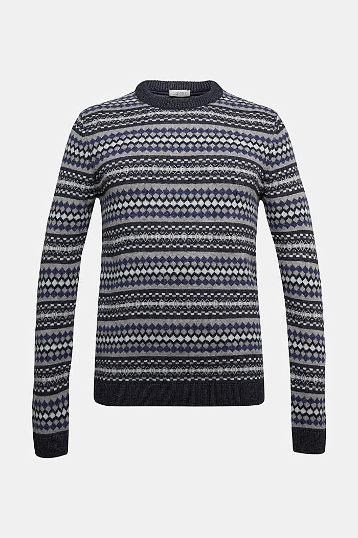 Wool blend: jacquard knit jumper