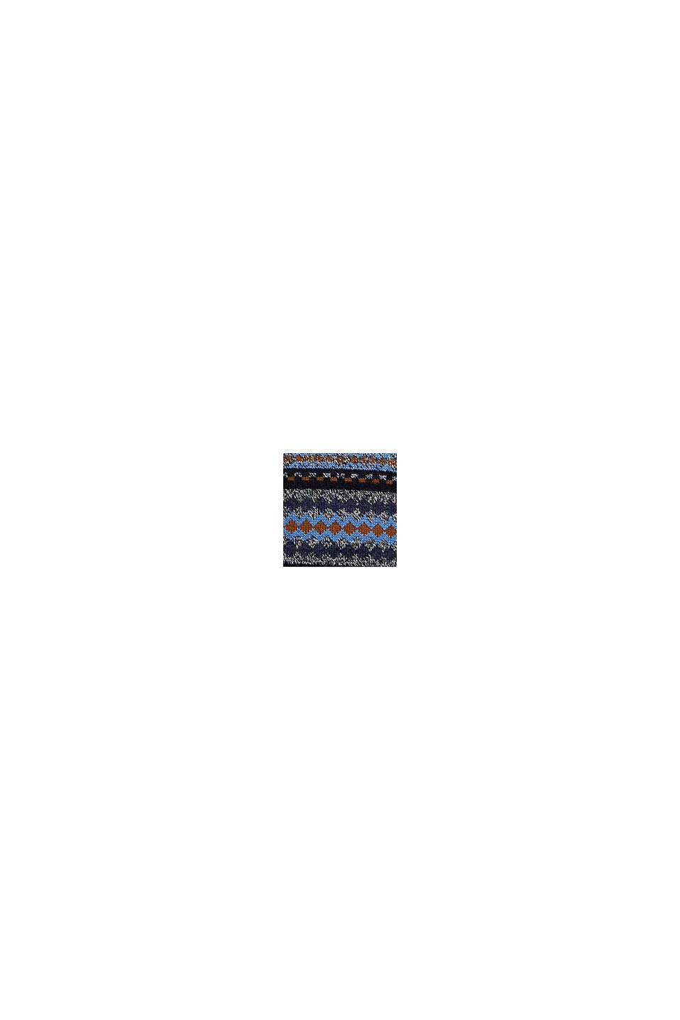 À teneur en laine: le pull-over en maille jacquard, NAVY, swatch