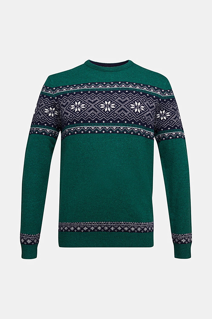 Wool: jacquard knit jumper