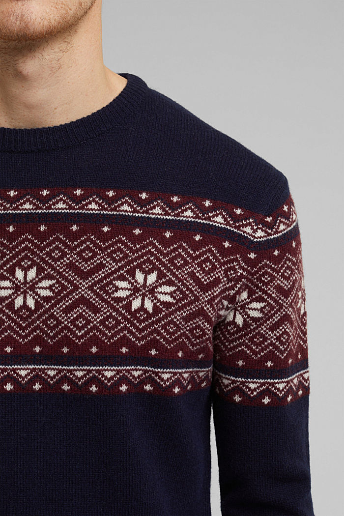 Sweaters, NAVY, detail image number 2