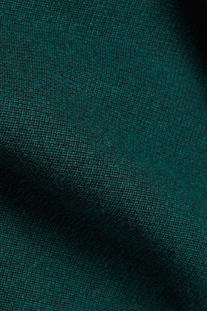 Crewneck jumper made of blended organic cotton, BOTTLE GREEN, detail image number 4