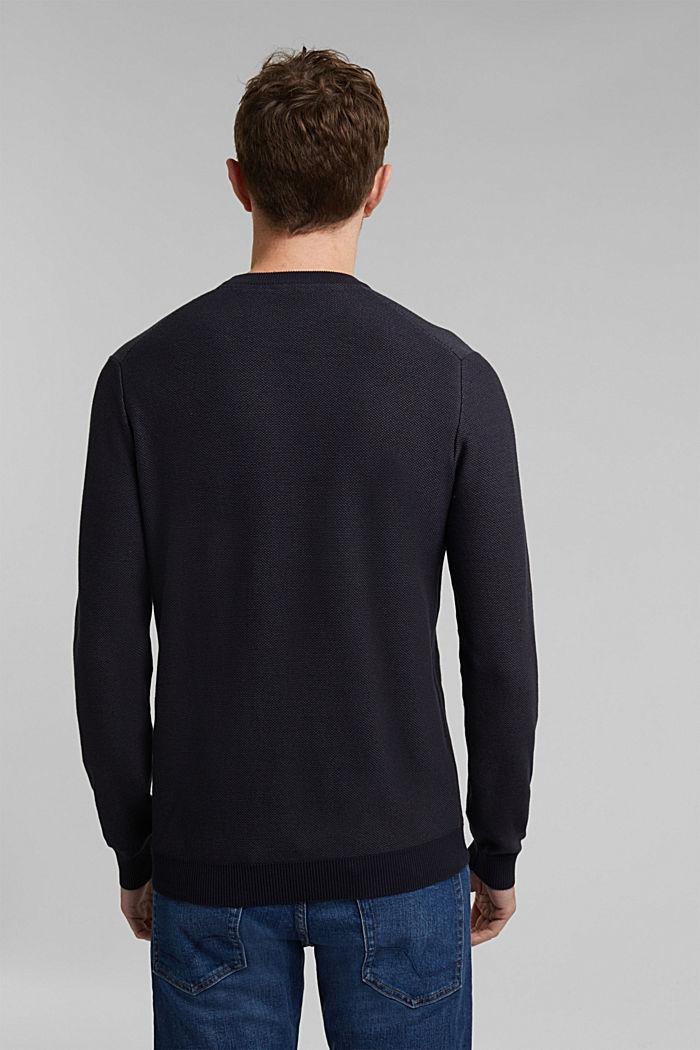 Crewneck jumper made of blended organic cotton, NAVY, detail image number 3