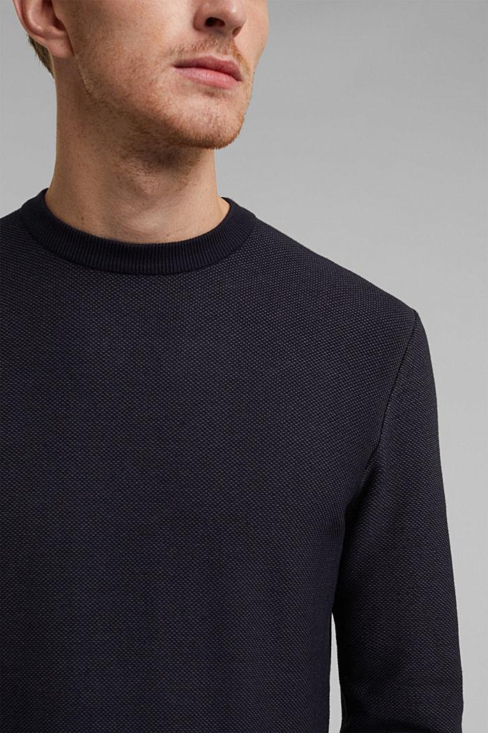Crewneck jumper made of blended organic cotton, NAVY, detail image number 2