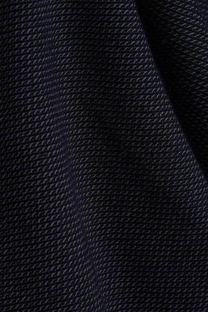 Crewneck jumper made of blended organic cotton, NAVY, detail image number 4