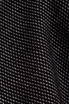 Textured sweatshirt, 100% organic cotton, BLACK, detail