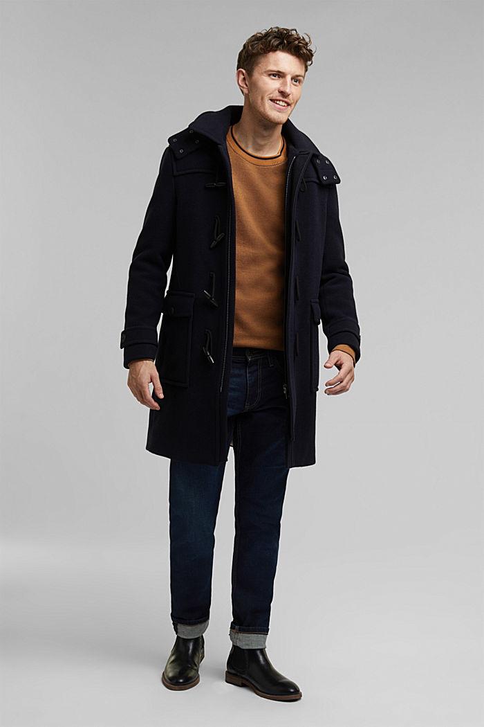 Textured sweatshirt, 100% organic cotton, BARK, detail image number 1